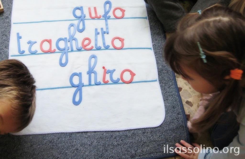 Esercizi di scrittura con l'alfabeto mobile