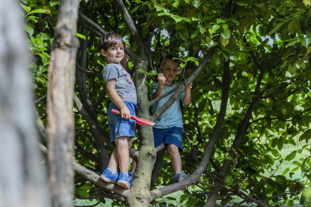 Immerso nella natura il bambino scopre potenzialità e limiti.